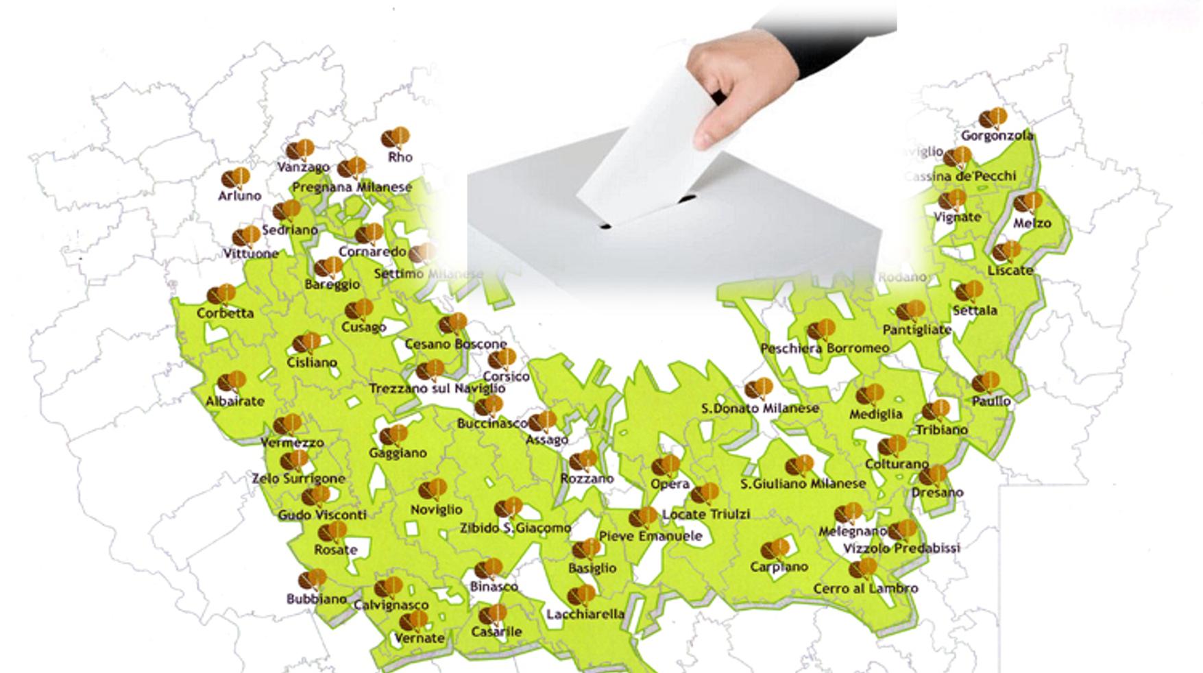 Amministrative 2019: 29 comuni al voto nel Parco Sud