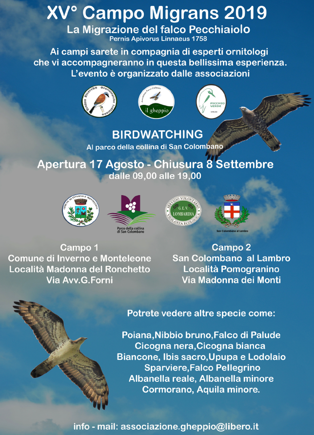 birdwatching sulle colline di San Colombano 2019